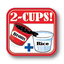Minute® Rice - 2 cups Beans and Rice graphic