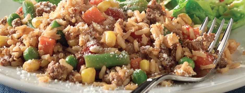 Minute vegetable beef and rice skillet dinner we can help makes 4 servings ccuart Choice Image