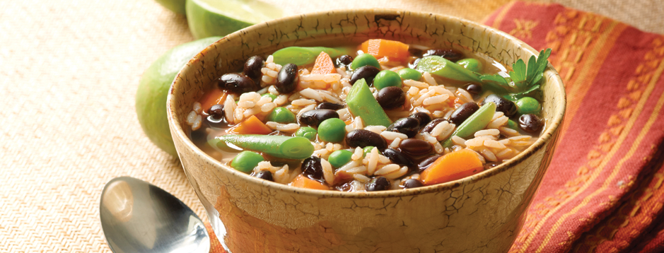 Minute south american black beans and rice soup we can help 2 makes 2 servings forumfinder Images