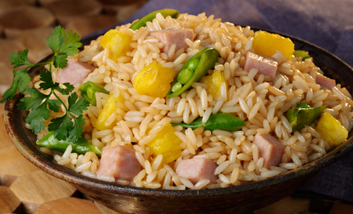 Easy To Prepare Just Heat MinuteR Ready Serve White Rice Combine Cooked Ham Pineapple Chunks Green Peas Or Sugar Snap With A Touch Of